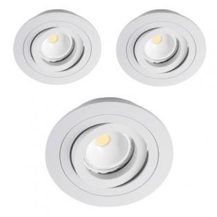 Kit 3 focos LED empotrables redondo blanco