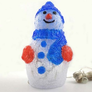 Figura luminosa led Muñeco de nieve (80 led)