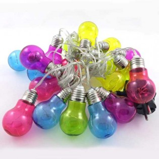 Guirnalda Led 20 bombillas de colores (0.8W)