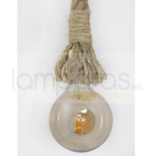 Lámpara cuerda-soga de esparto natural