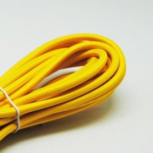 Cable textil amarillo