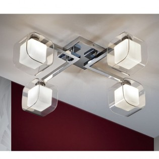 Plafón Cube (4 luces)