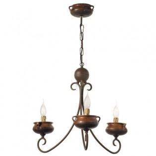 Lámpara artesana Ollas (4 luces)
