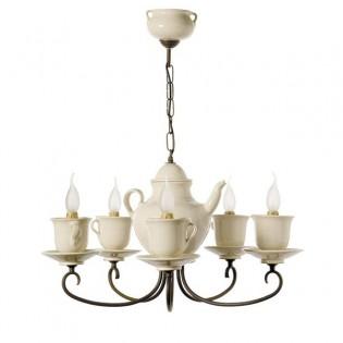 Lámpara de techo Cafetera-tazas (5 luces)
