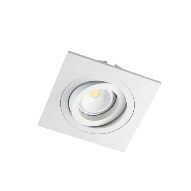 Kit 3 focos LED empotrables cuadrado blanco