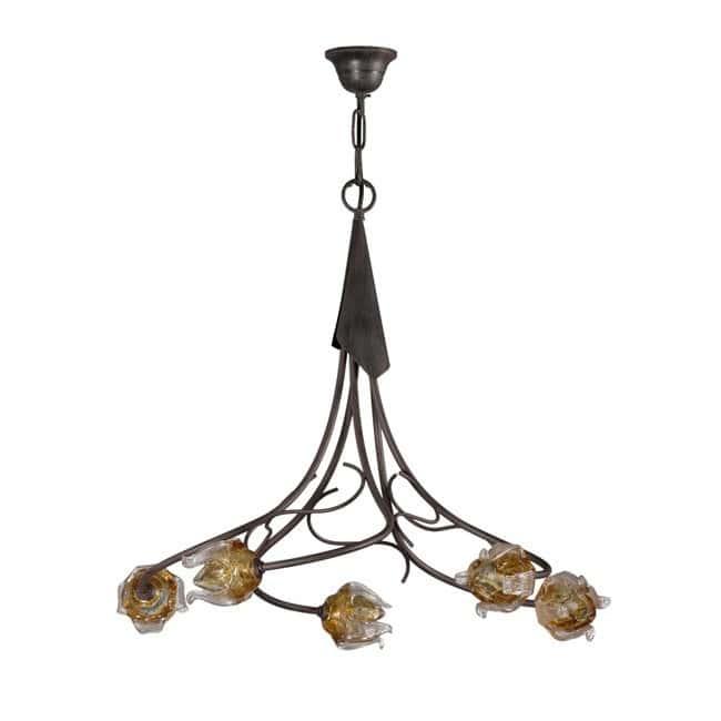 Lámpara rústica Faura (5 luces)