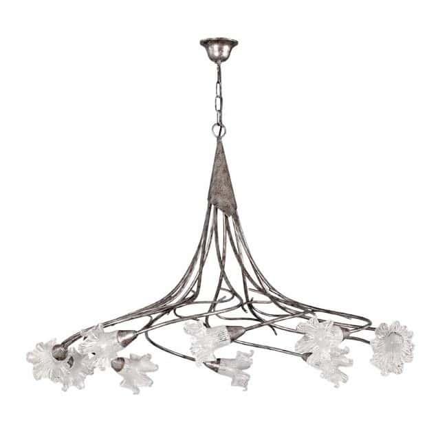 Lámpara rústica Zarina (10 luces)