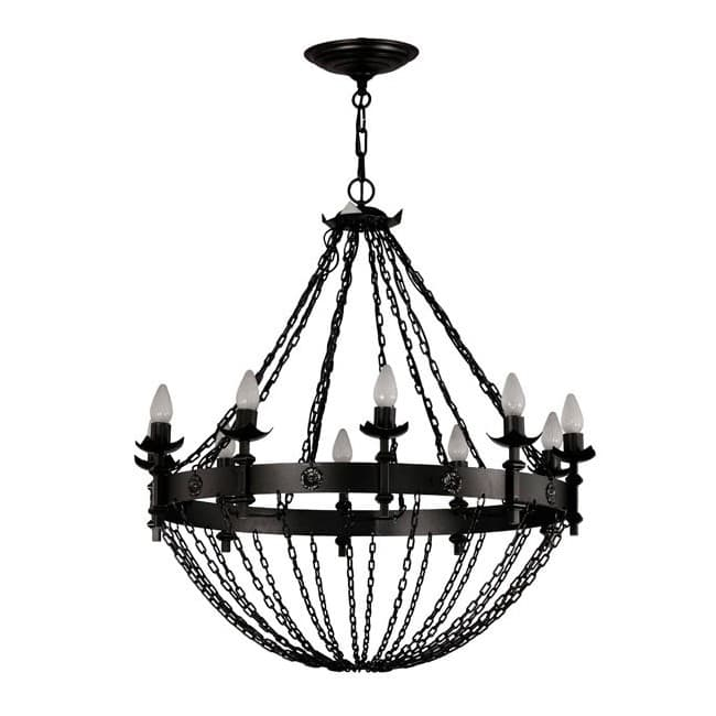 Lámpara rústica Bucan (10 luces)