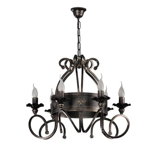 Lámpara rústica Dolon (6 luces)