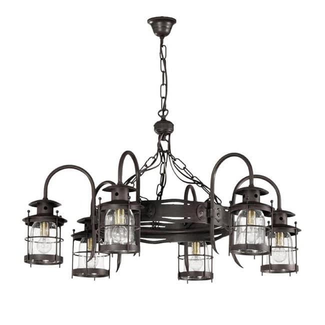 Lámpara rústica Galux (6 luces)