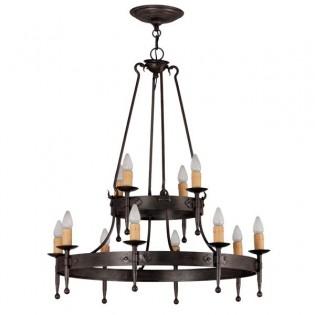Lámpara rústica Hipa (12 luces)