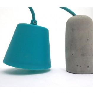 Lámpara Retro cemento (azul)