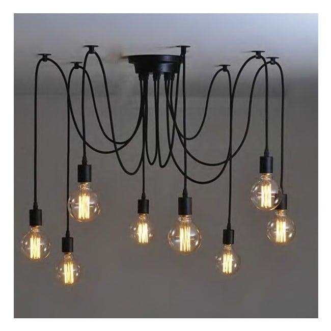L mpara ara a con cables engomados 10 brazos - Lampara de arana moderna ...