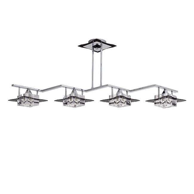 Lámpara de techo Zig Zag CUBO (4 luces)
