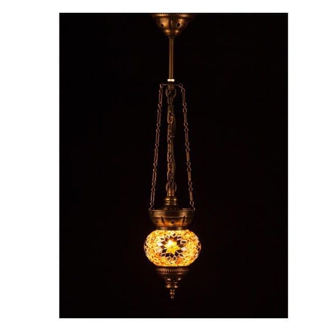 Lámpara Turca KolyeIII11 (amarillo)