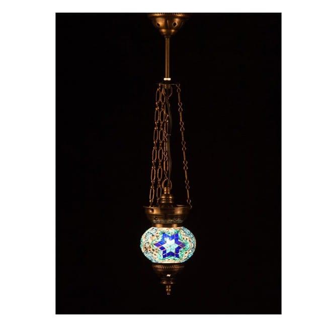 Lámpara Turca KolyeIII13 (azul)