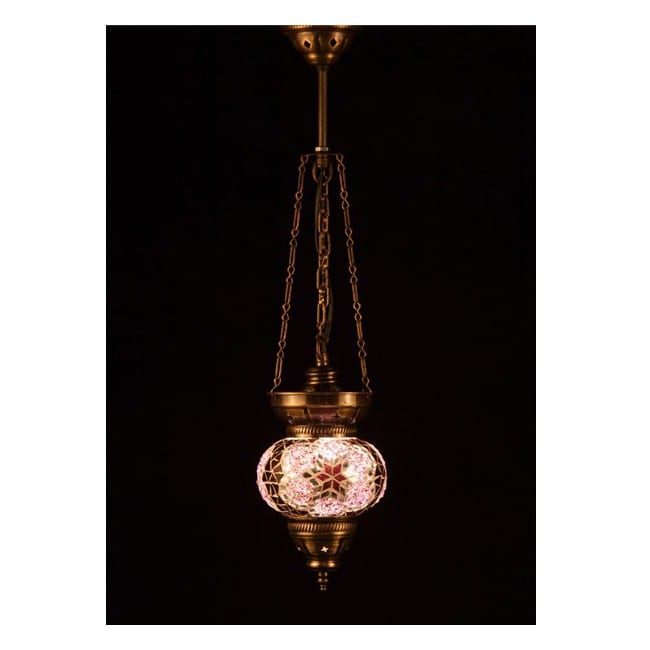 Lámpara Turca KolyeIII13 (rosa)