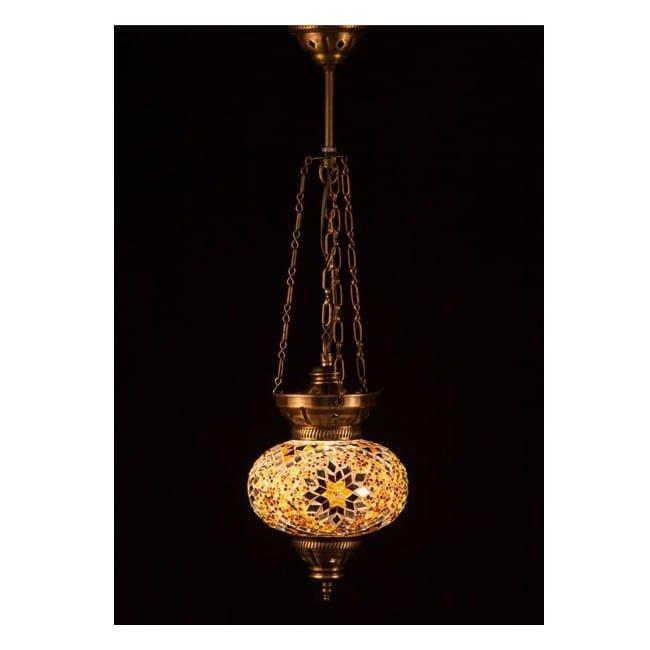 Lámpara Turca KolyeIII16 (amarillo)