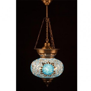 Lámpara Turca KolyeIII25 (turquesa)