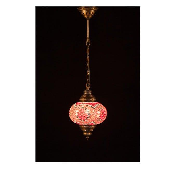 Lámpara Turca KolyeI55 (rojo)