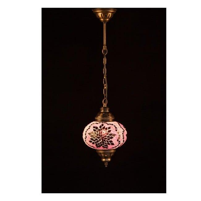 Lámpara Turca KolyeI55 (rosa)