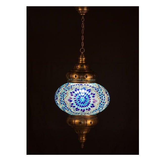 Lámpara Turca KolyeI90 (azul)