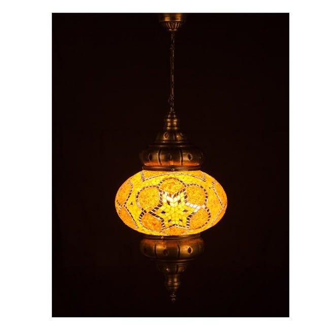 Lámpara Turca KolyeI90 (amarillo)
