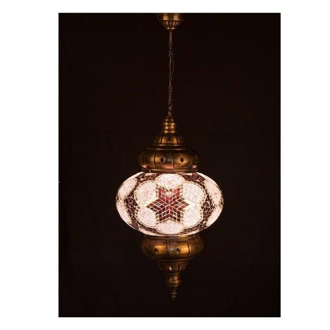 Lámpara Turca KolyeI90 (rosa)