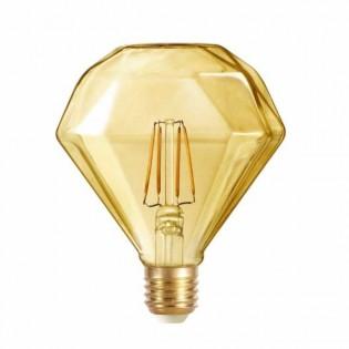 Bombilla LED Diamante caramelo (4W-cálida)