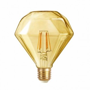Bombilla LED Diamante caramelo (6W-cálida)