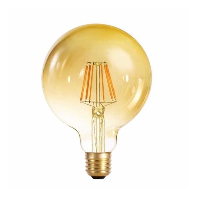 Bombilla decorativa LED globo 125 fumé (6W-cálida)