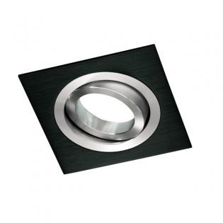 Foco empotrable CLASSIC cuadrado negro. Wonderlamp