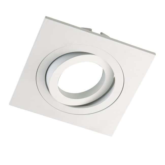 Foco empotrable CLASSIC basculante cuadrado blanco. Wonderlamp