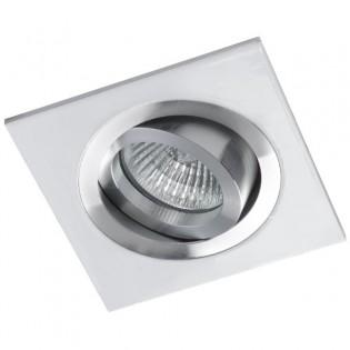 Foco empotrable CLASSIC cuadrado aluminio blanco.