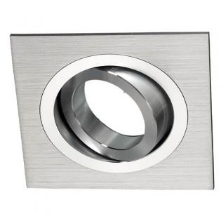 Foco empotrable Classic Cuadrado Aluminio