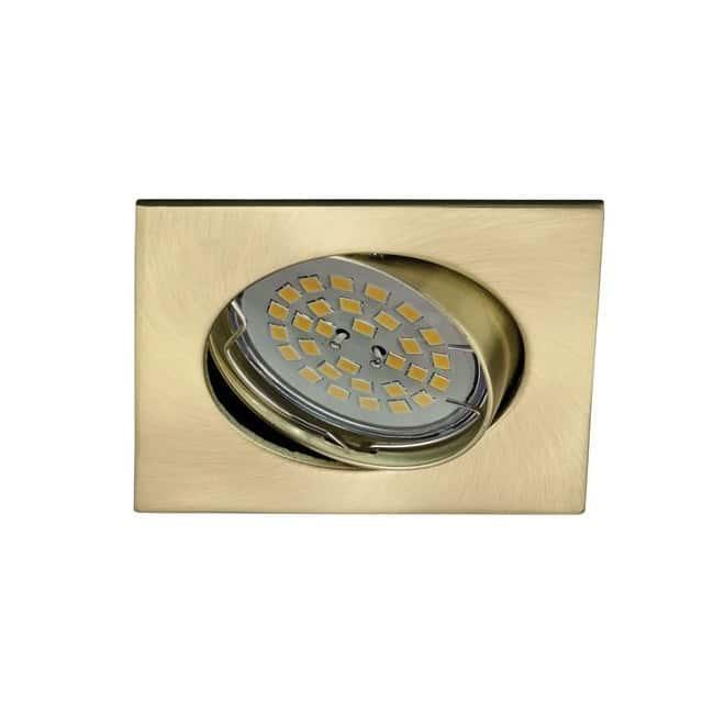 Foco empotrable BASIC cuadrado oro satinado. Wonderlamp