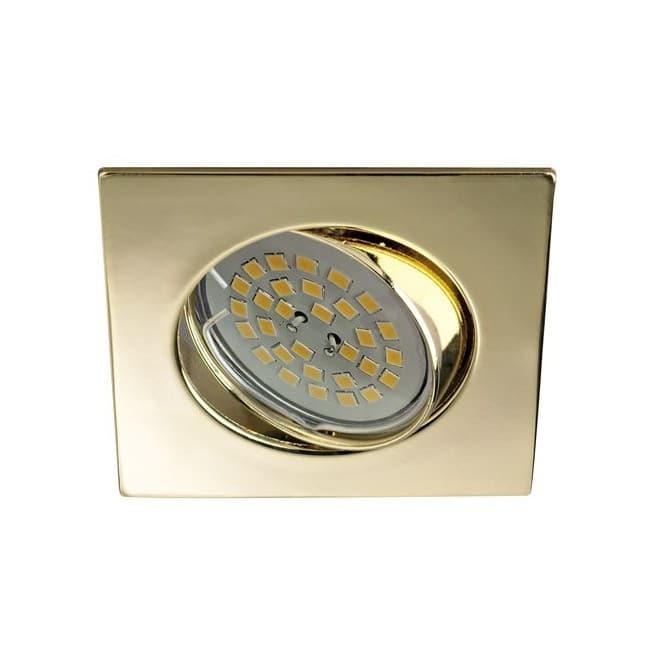 Foco empotrable BASIC cuadrado oro. Wonderlamp