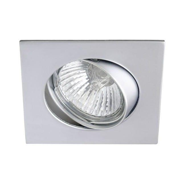 Foco empotrable BASIC cuadrado acero. Wonderlamp