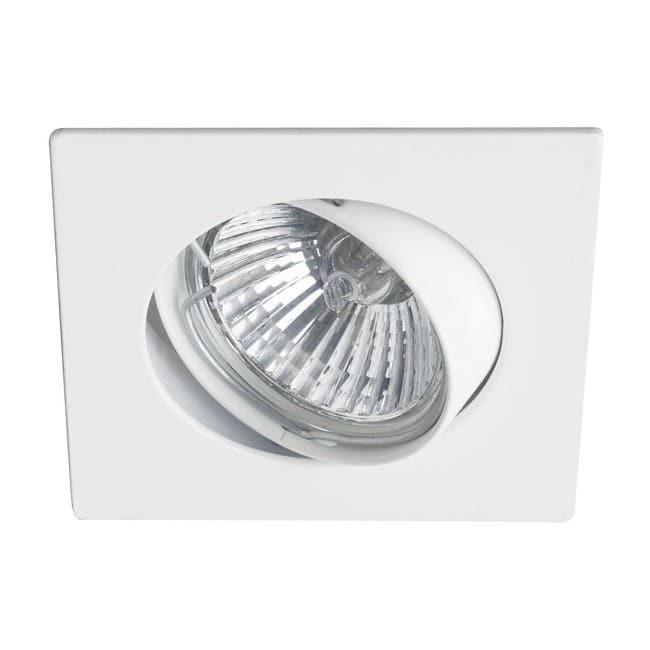 Foco empotrable BASIC cuadrado blanco. Wonderlamp