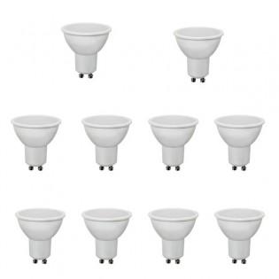 Pack 10 Bombillas Led GU10. 4W. 300Lm. Wonderlamp