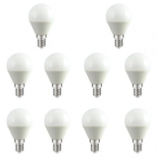 Pack 10 Bombillas Led Esférica E-14. 4W. 300Lm. Wonderlamp