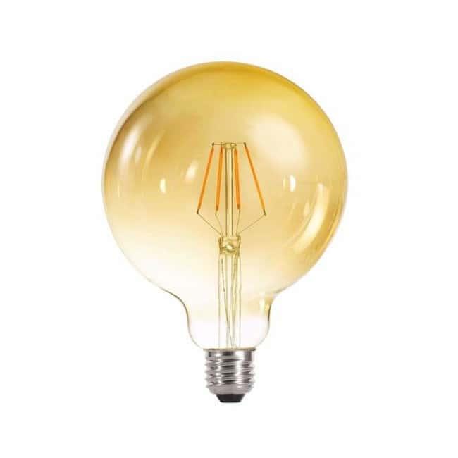Bombilla decorativa LED globo 125 caramenlo (6W-cálida)
