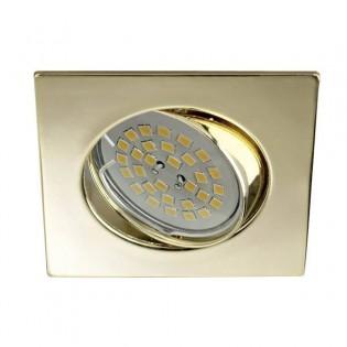 Eclo - Kit de foco empotrable, basculante, portalmparas y bombilla, color oro