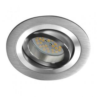 Helium - Kit de foco empotrable, redondo, aluminio
