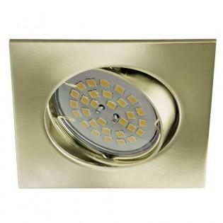 Eclo - Kit de foco empotrable, basculante, portalmparas y bombilla, color oro viejo