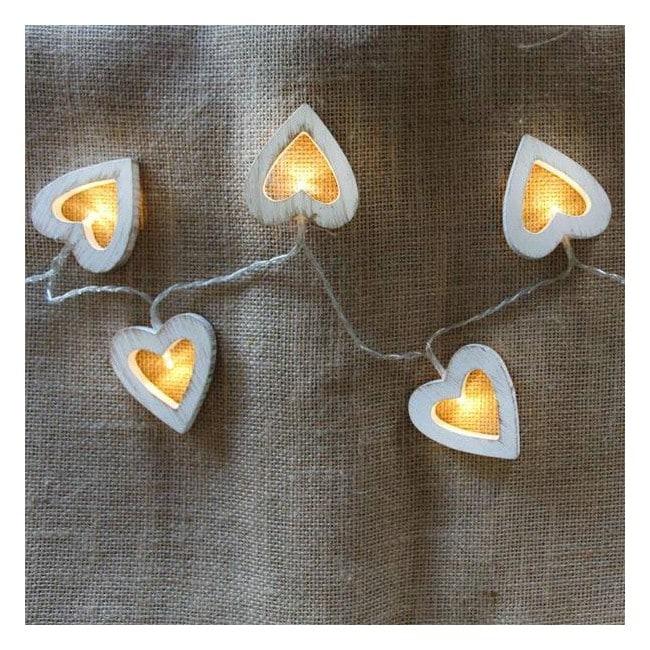 Guirnalda Rústica Led corazón 10 luces