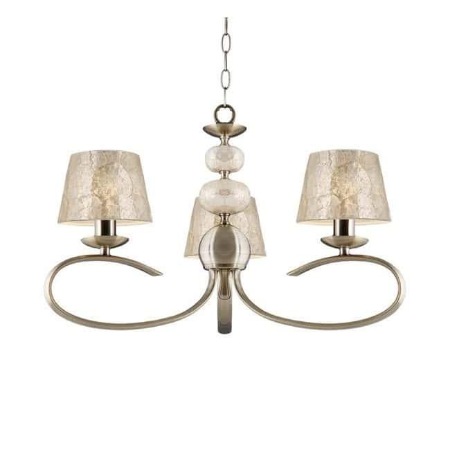 Lámpara de araña Eva Cuero (3 luces)