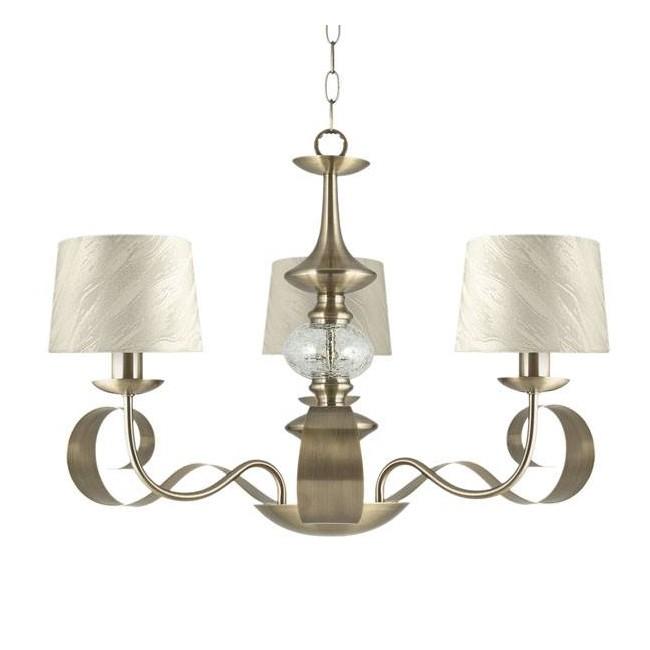 Lámpara colgante Carmen tela (3 luces)
