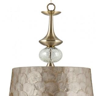 Lámpara colgante Carmen nácar (35 cm)