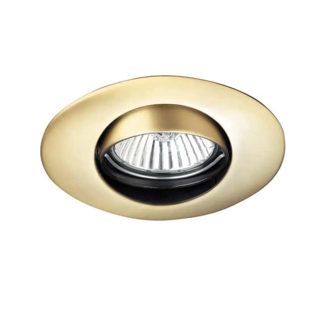 Empotrable ovalado oro satinado (basculante)